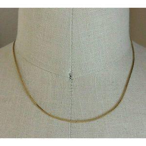 "Napier Gold Tone Chain Necklace Women Jewelry 18"""